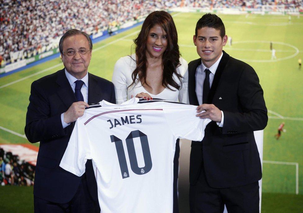 مراسم معارفه جیمز رودریگز در رئال مادرید