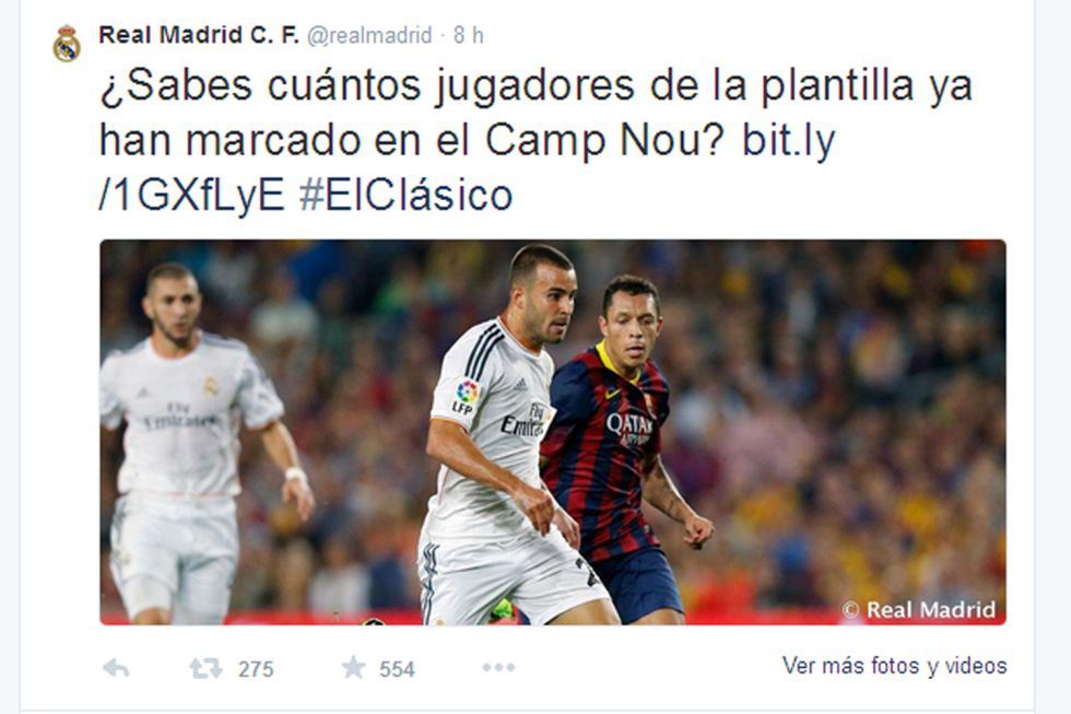 FC Barcelona y Real Madrid compartirán en Twitter el hashtag: #ElClásico