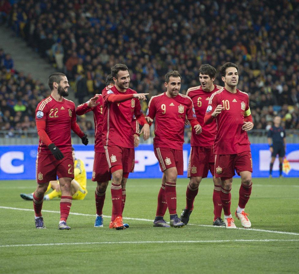 0-1: ესპანეთმა სტუმრად უკრაინა დაამარცხა