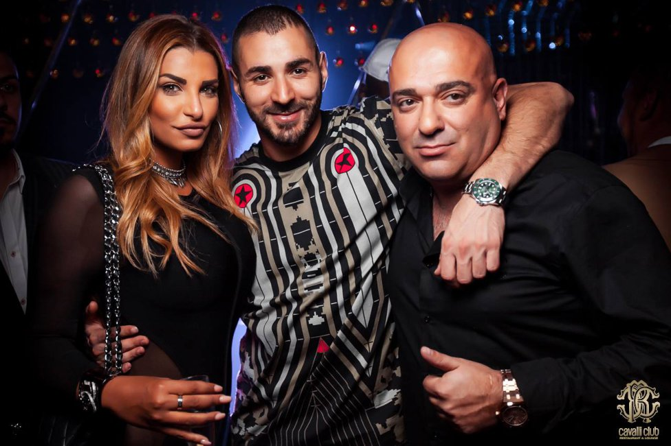 Pictures from Karim Benzemas 28th birthday party in the Cavalli Club in Dubai