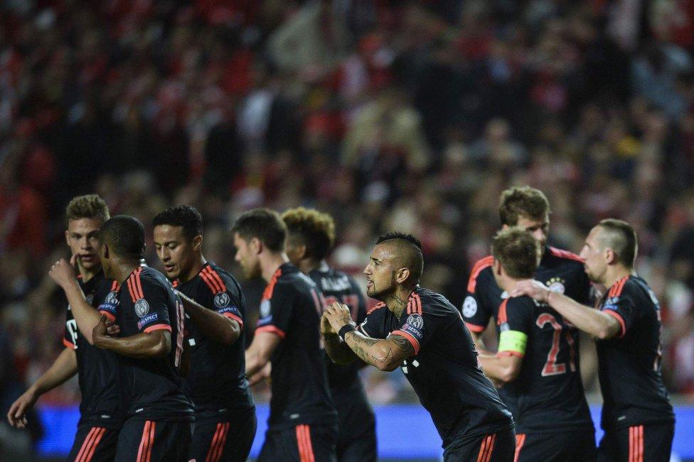 Benfica-Bayern en imágenes