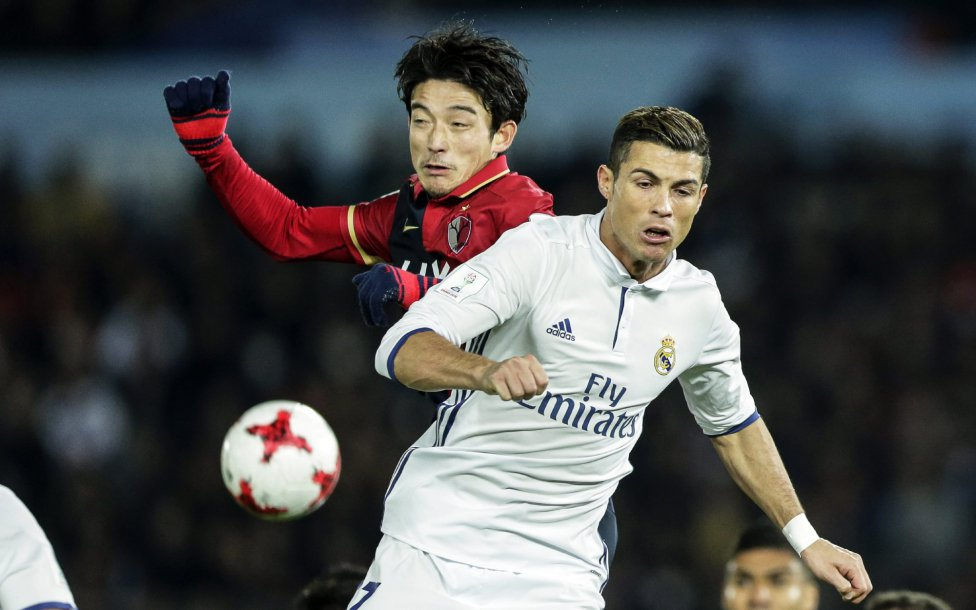 Daigo Nishi junto a Cristiano Ronaldo.