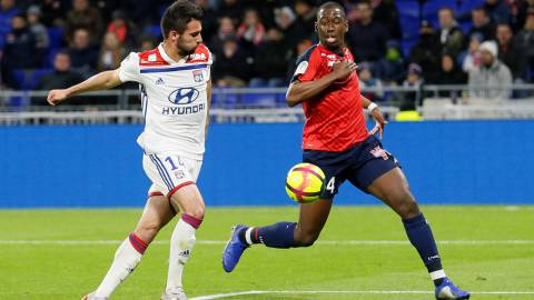 Soccer Football - Ligue 1 - Olympique Lyonnais v Lille - Groupama Stadium, Lyon, France - May 5, 2019   Lille's Boubakary Soumare in action before scoring their second goal            REUTERS/Emmanuel Foudrot